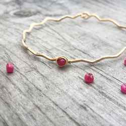 Ruby bracelet in silver or gold by niccoletti $45