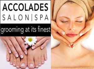 50 off nails facial or massage at accolades salon spa for Accolades salon reviews