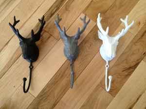 Iron deer hook by WoodfireCandle $16